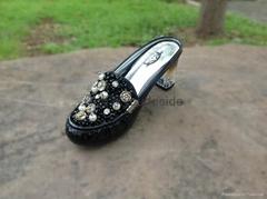 2014夏季新款包頭坡跟縫邊漆皮時尚女鞋