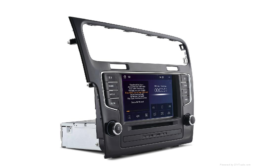 7inch  car dvd player which is compatible with New VW golf7 2012-2014 1