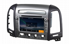 car dvd player for  HYUNDAI SANTAFE Year 2006-2012