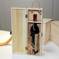 High Quality Pine Wood single double three six Wine Packing Box for Wine 3