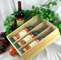 High Quality Pine Wood single double three six Wine Packing Box for Wine 4