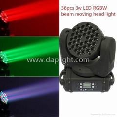 36x3w LED RGBW beam moving head light