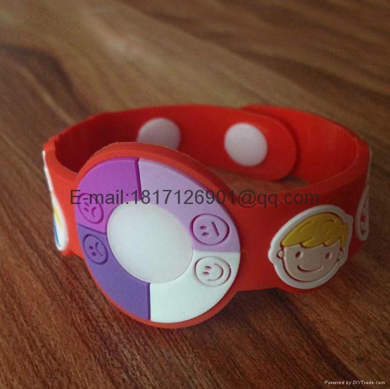 UV tester Bracelet Watch变色手腕带 PVC手环防紫外线手环 1