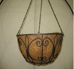 12 inch diameter Designer Hanging Basket & Coco Liner Kit