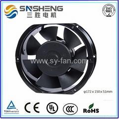 φ172ⅹ150ⅹ51mm  7 Impellers AC Cooling Fan