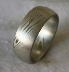 Damascus stainless steel ring damascus