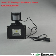 high quality watrproof solar rechargeable floodlight 20w