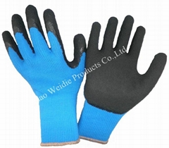 Latex coated working gloves