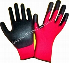 Nitrile dippe working glove with CE certification