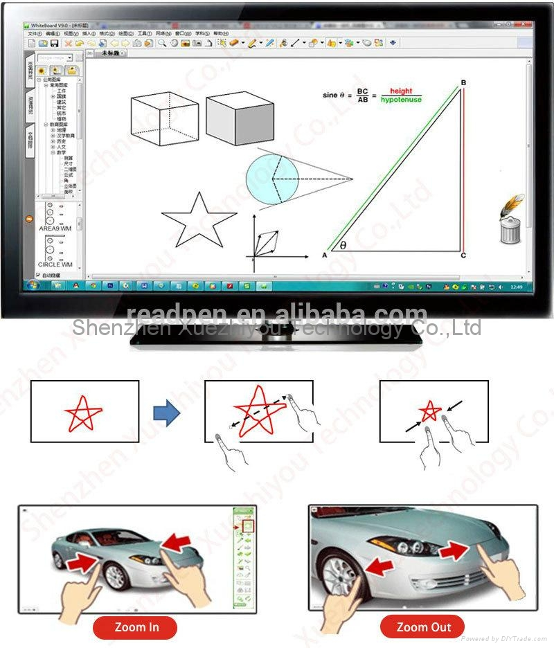 On-Line Import LED&LCD Screen TV Multi Infrared Touch Interactive Whiteboard  4
