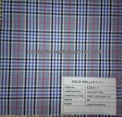 grey checks high-end shirting fabric