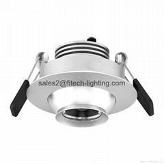 3watt focusable eyeball led downlight adjustable beam angle for museum showcase