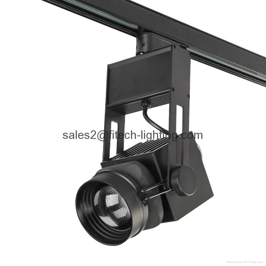 Led Track Lighting China: 45w Cob Led Track Light Adjustable Beam Angle For Large