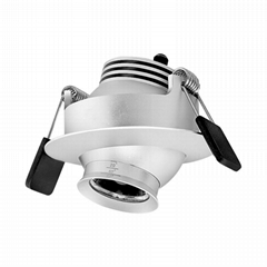 3w eyeball led downlight adjustable beam angle focus for museum showcase (Hot Product - 1*)