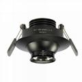 3w eyeball led downlight adjustable beam angle focus for museum showcase