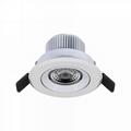3 inch 7W gimbal anti-glare led recessed lighting luminaire retrofit