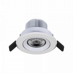 3 inch 7W gimbal anti-glare led recessed lighting luminaire retrofit