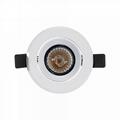 3 inch 7W gimbal anti-glare led recessed lighting luminaire retrofit  4