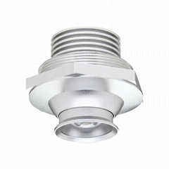 1w black directional adjustable led downlights for display cabinet