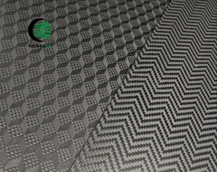 Patterned carbon fiber fabric