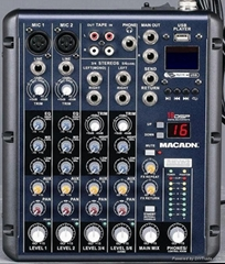 6/8 channel audio mixer