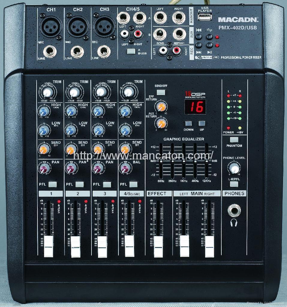 4 6 channel audio mixer pmx 402d usb macadn china manufacturer mixer consumer. Black Bedroom Furniture Sets. Home Design Ideas