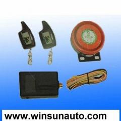 Two-way motorcycle alarm