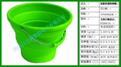 硅胶折叠桶