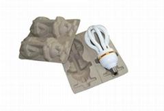 节能灯纸托 环保纸浆模塑 纸浆托  纸浆托盘