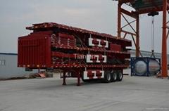 13m  Three axles flat beam fence trailer