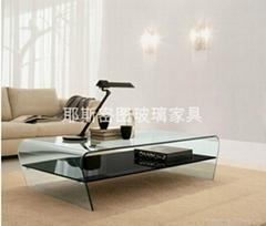 High quality glass tea table