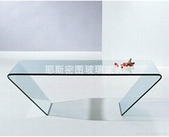 Beautiful glass tea table C-757#