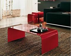 Art glass tea table E-218#