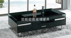 Multi-functional glass tea table E-328#