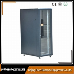 Floor standing 19'' equipment network rack cabinet