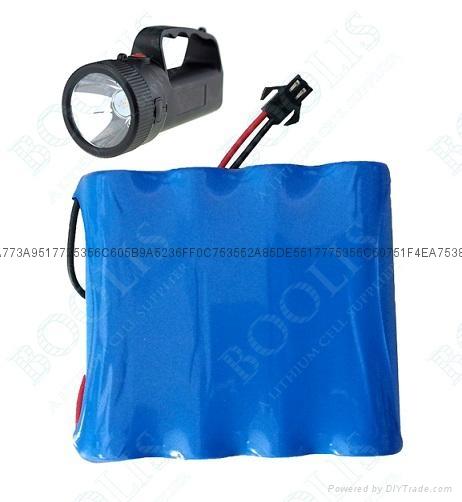 強光探照燈電池組3.7V  6000mAh 1