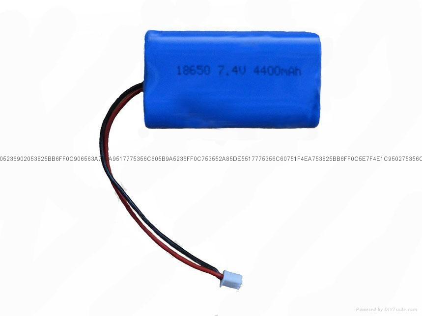 LED便攜式照明燈電池7.4V 3