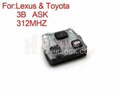car key Lexus remote key ASK 3 buttons 312MHZ