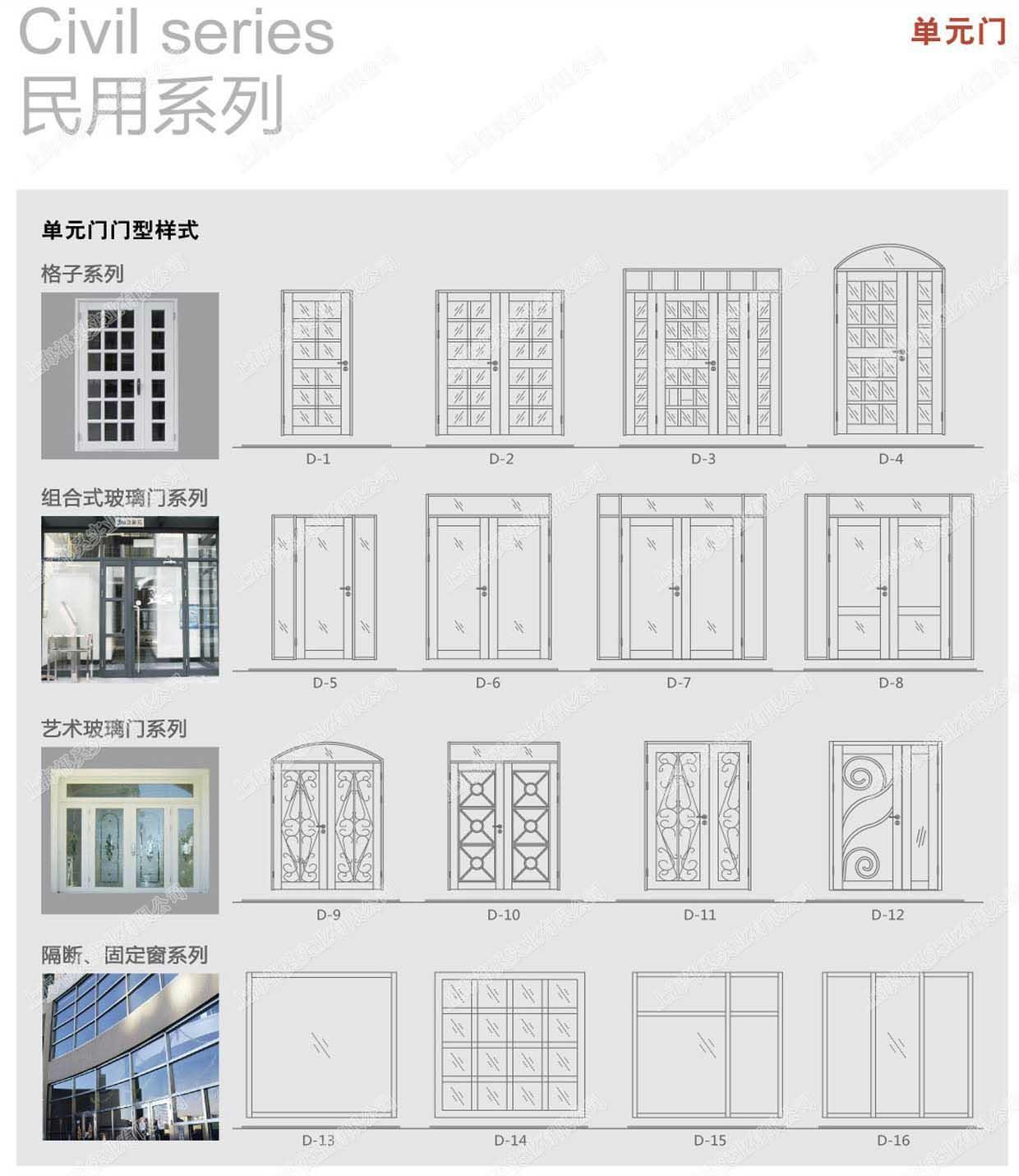 上海軒源非標單元門 2