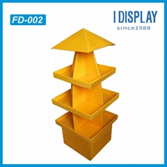 supermarket floor paper display pallet cardboard display