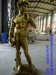 西方人物铜雕