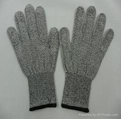 HHPE anti cutting gloves (Level 3)