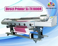 1.8m direct textile printer with dx5 print heads for fabric