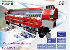 3.2m large format eco solvent printer printer with dx7 heads
