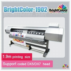 eco solvent printer with dx5/dx7 print heads 1440dpi high resolution