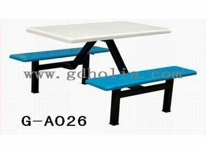 玻璃鋼彎曲木餐桌椅 1