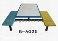 玻璃鋼彎曲木餐桌椅 2