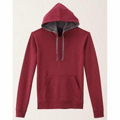 customized men's plain fleece hoodies