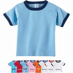 Solid Cotton Promotion Men's Ringer T-shirts