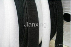 White or black eco-friendly nylon velcro tape
